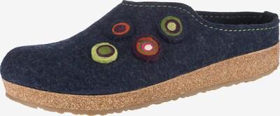 HAFLINGER Pantoffeln 'Grizzly Kanon' in blau, Produktansicht