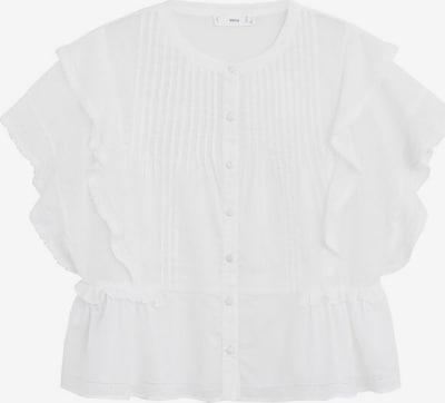 MANGO Bluza | pegasto bela barva, Prikaz izdelka