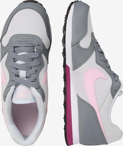 Nike Sportswear Sneaker 'Runner 2 (GS)' in grau / hellgrau / rosa: Seitenansicht