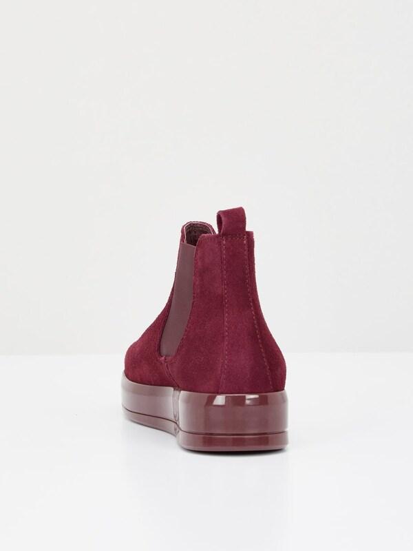 Bianco Flachform Stiefel aus Wildleder