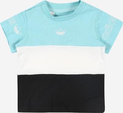ADIDAS ORIGINALS Shirt 'Panel' in de kleur Turquoise / Zwart / Wit: Vooraanzicht