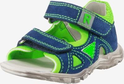 RICHTER Sandale in blau / kiwi, Produktansicht