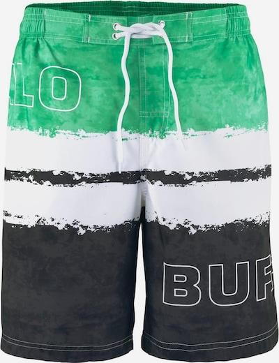 BUFFALO Badeshorts in grün / schwarz, Produktansicht