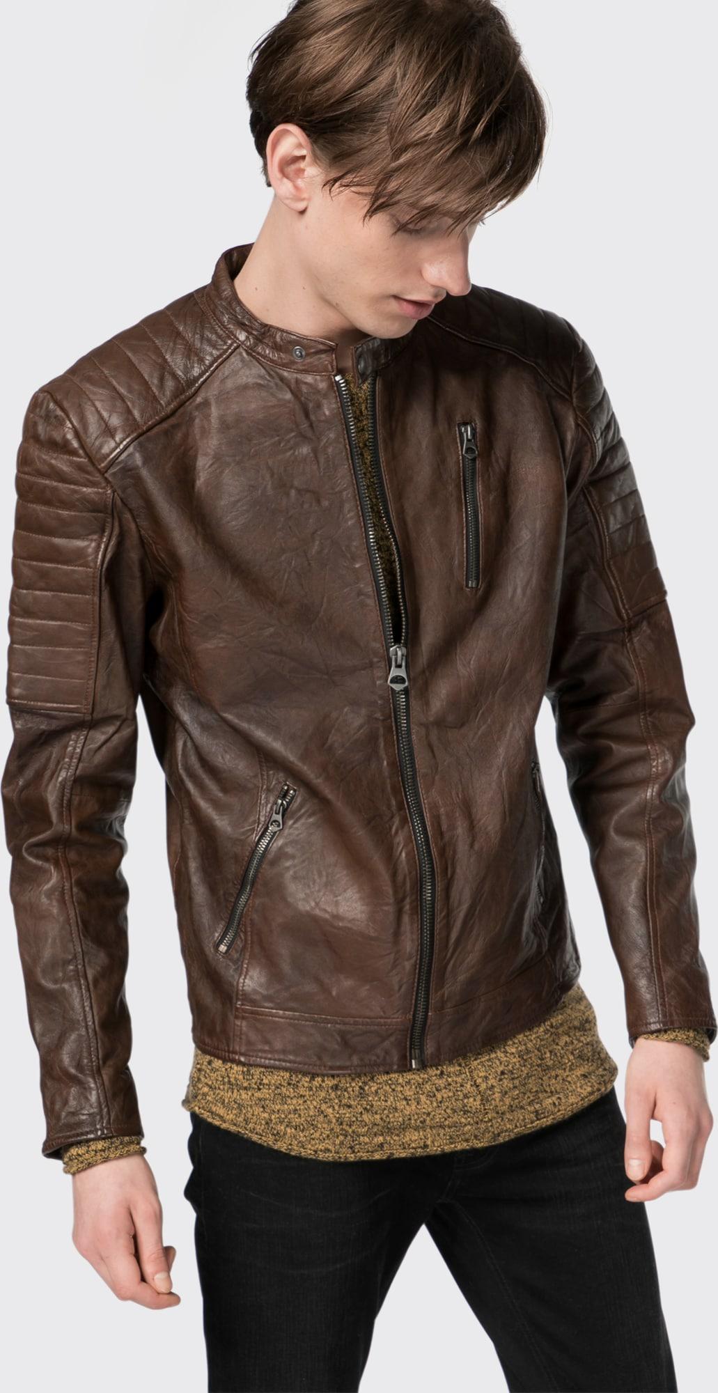 jack jones lederjacke 39 jjvrichard lamb leather jacket. Black Bedroom Furniture Sets. Home Design Ideas