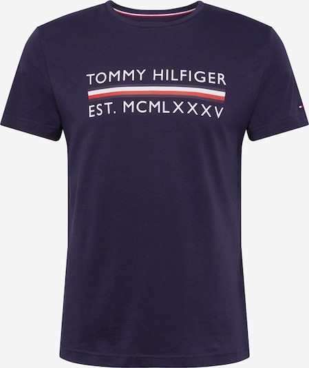 TOMMY HILFIGER Shirt 'CORP BAR TEE' in de kleur Donkerblauw / Rood / Wit, Productweergave