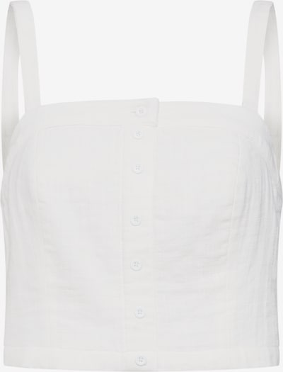 Review Top 'CROPPED SMOCK BL' in de kleur Offwhite, Productweergave