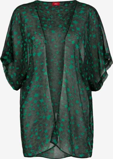 s.Oliver Poncho in grün / dunkelgrün / schwarz, Produktansicht