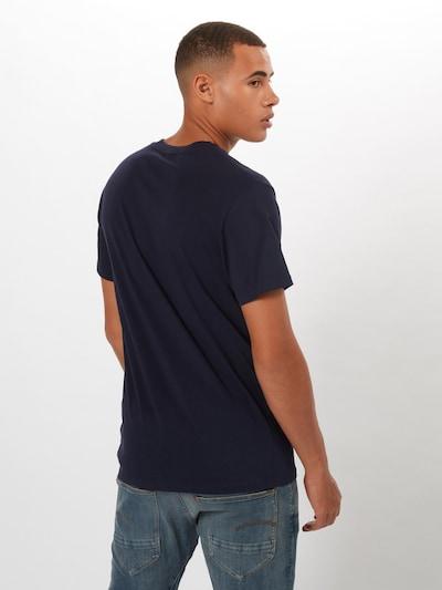 G-Star RAW Shirt 'Graphic 8' in dunkelblau / weiß: Rückansicht