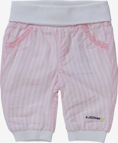 s.Oliver Junior Softbundhose in rosa / weiß, Produktansicht