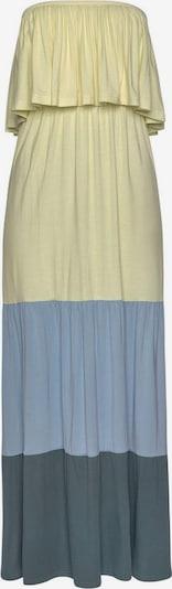 LASCANA Haljina za plažu u sivkasto plava / pastelno žuta / kraljevski zelena, Pregled proizvoda