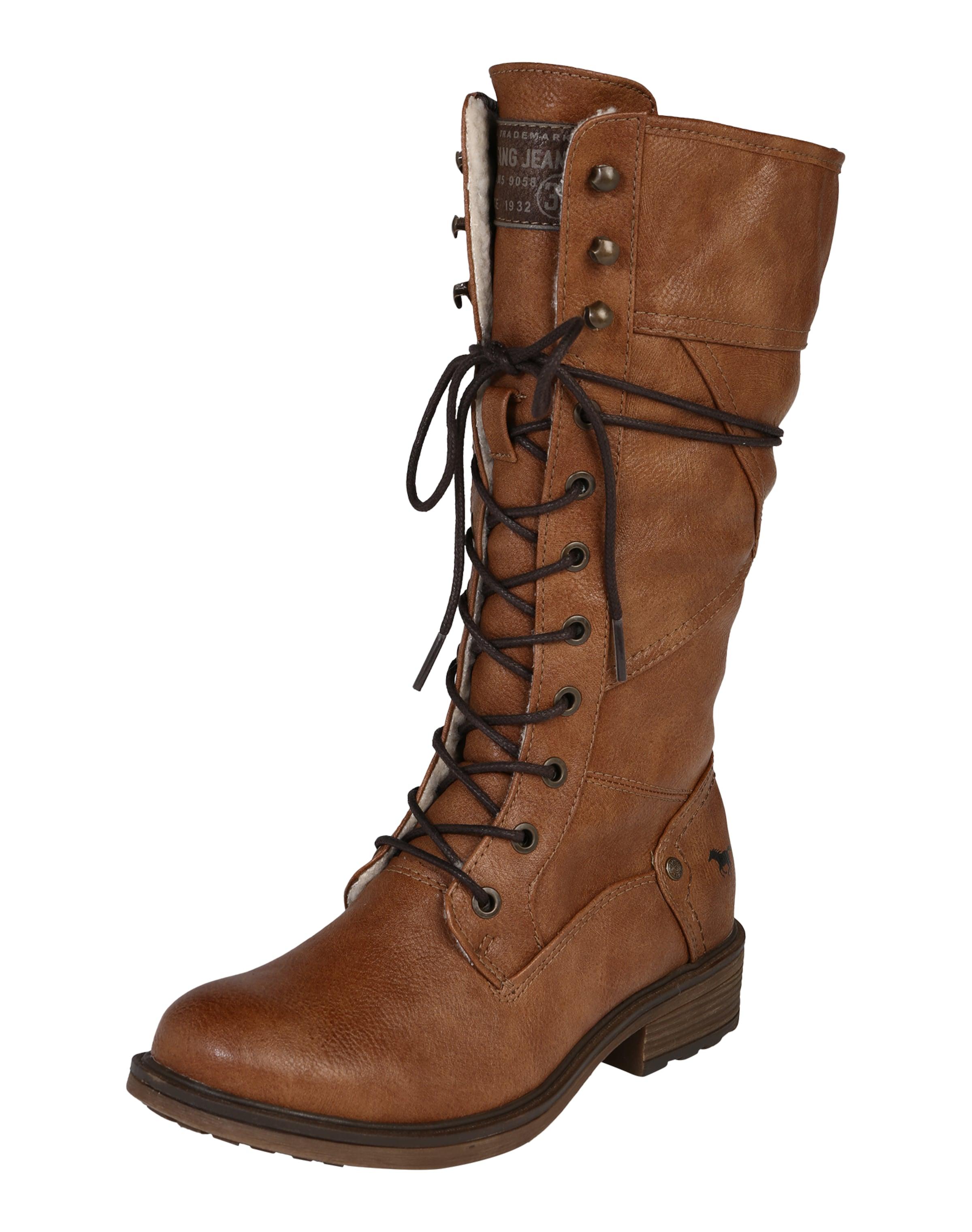 MUSTANG Stiefel mit Schnürung Verschleißfeste billige Schuhe