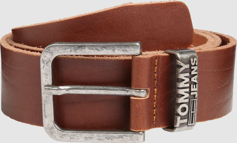 Tommy Jeans Leather Belt In Casual Look