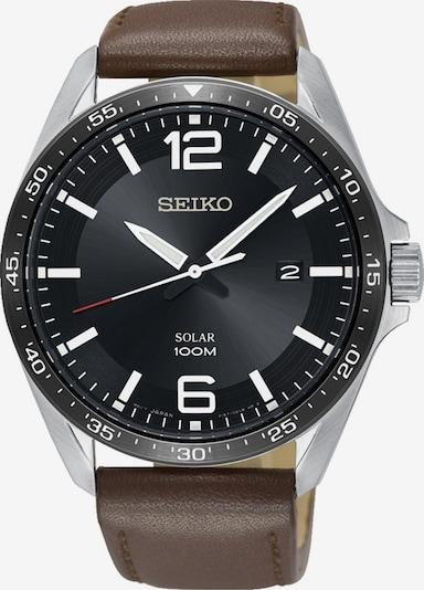 SEIKO Uhr 'Solar' in braun / schwarz / silber, Produktansicht