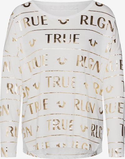 True Religion Shirt in de kleur Goud / Wit, Productweergave