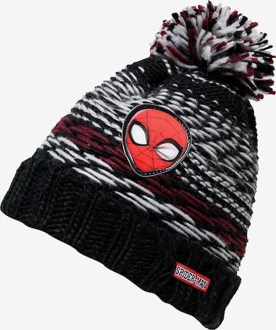 SPIDERMAN Mütze 'Spider-Man' in dunkelrot / schwarz / weiß, Produktansicht