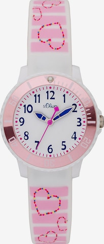 s.Oliver Uhr 'SO-3762-PQ' in Pink