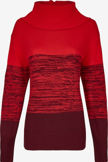 DANIEL HECHTER Pullover in rot / weinrot, Produktansicht