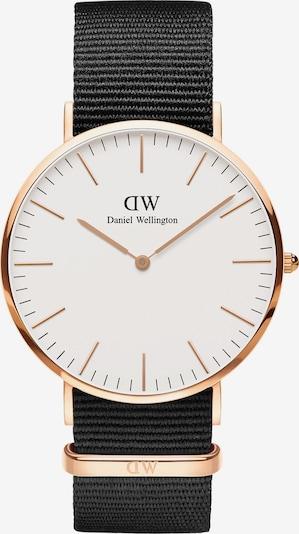 Daniel Wellington Unisexuhr 'Classic Cornwall' in gold / schwarz / weiß, Produktansicht
