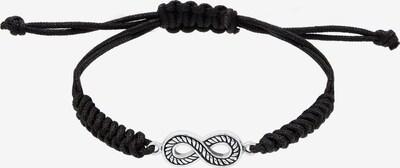 KUZZOI Armband 'Infinity' in de kleur Zwart / Zilver, Productweergave