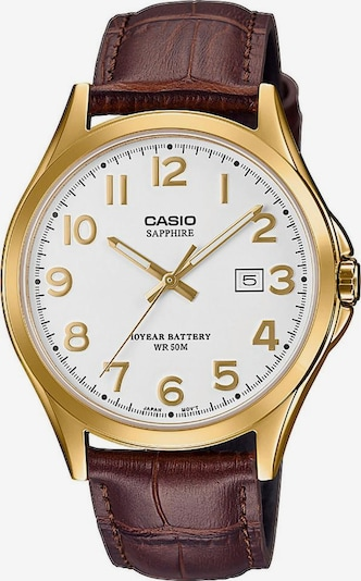 CASIO Uhr in braun / gold, Produktansicht