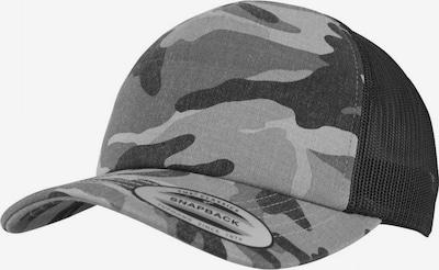 Flexfit Cap in grau / schwarz, Produktansicht