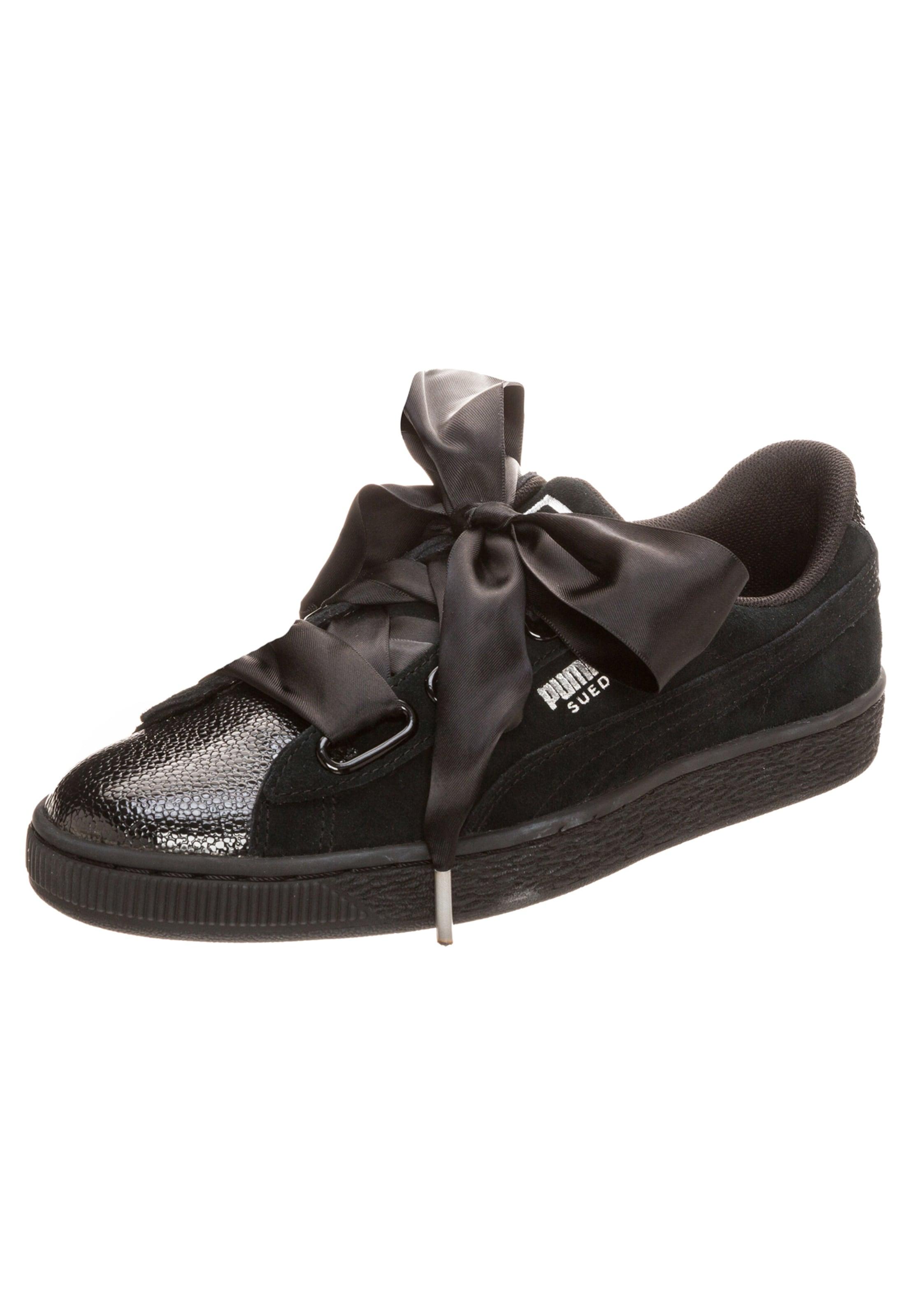 Laag Bubble' Sneakers In Zwart 'suede Heart Puma 5wz8Cx6q6