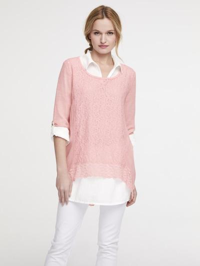 heine Shirt in pink / weiß, Modelansicht