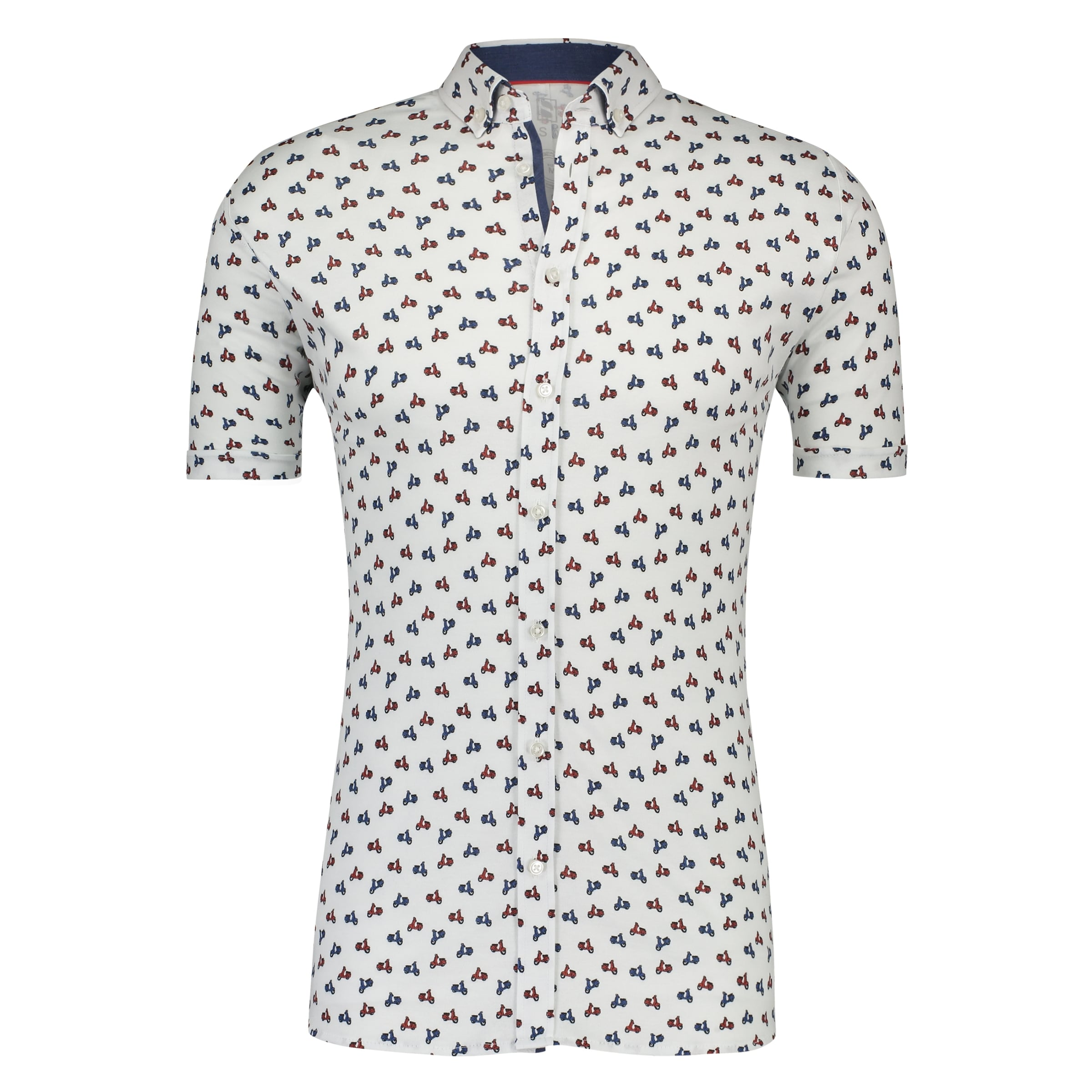 Desoto In BlauRot Jerseyhemd Weiß Desoto gyYfb76