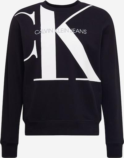 Bluză de molton 'Upscale Monogram' Calvin Klein Jeans pe negru / alb, Vizualizare produs