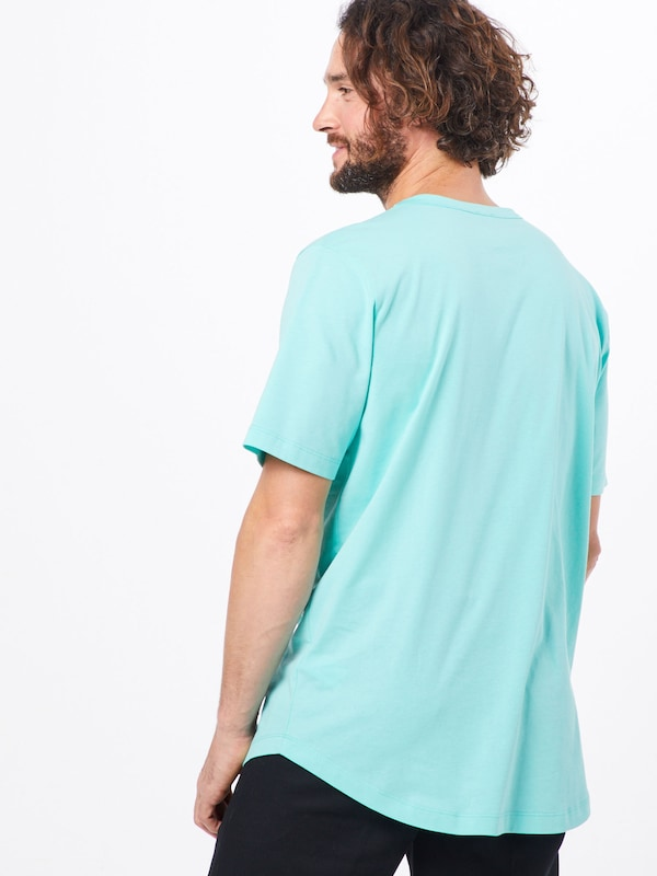 ABOUT YOU X PARI Shirt 'Jim' in de kleur Turquoise / Zwart: Achteraanzicht