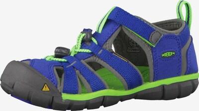 KEEN Sandale 'Seacamp 2 CNX Toddler' in blau / grau / neongrün, Produktansicht