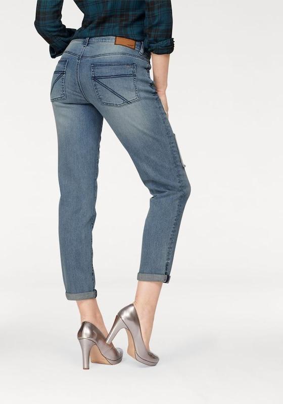 ARIZONA Boyfriend-Jeans mit Destroyed Effekten und Patches