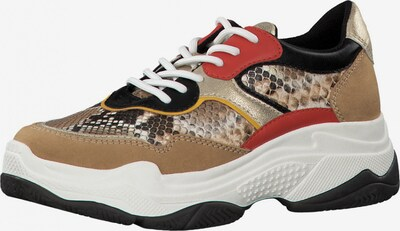 s.Oliver Sneaker in beige / gold / rot, Produktansicht