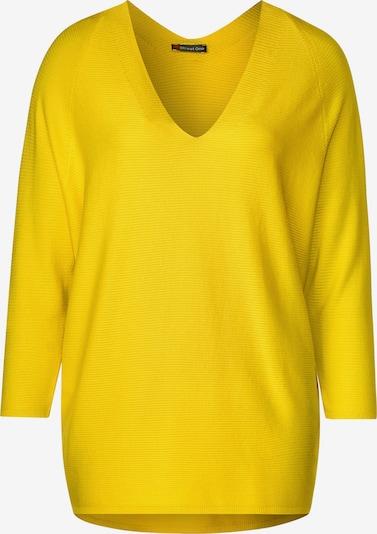 STREET ONE Pullover mit V-Ausschnitt in gelb, Produktansicht