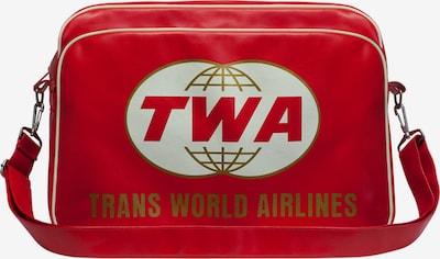 LOGOSHIRT Tasche 'Trans World Airlines' in rot / weiß, Produktansicht