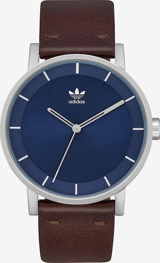 ADIDAS ORIGINALS Armbanduhr 'District L1' in blau / dunkelbraun / silber, Produktansicht