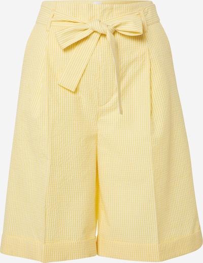 Kelnės su kantu 'Sarlie' iš BOSS , spalva - geltona / balta, Prekių apžvalga