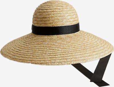 MANGO Hut  'LUIS' in beige / schwarz, Produktansicht