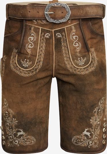 MARJO Pantalon folklorique 'Hesso' en marron, Vue avec produit