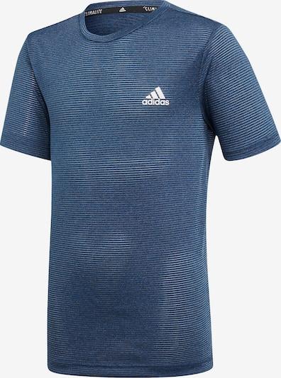 ADIDAS PERFORMANCE Trainingsshirt in marine / taubenblau / weiß, Produktansicht