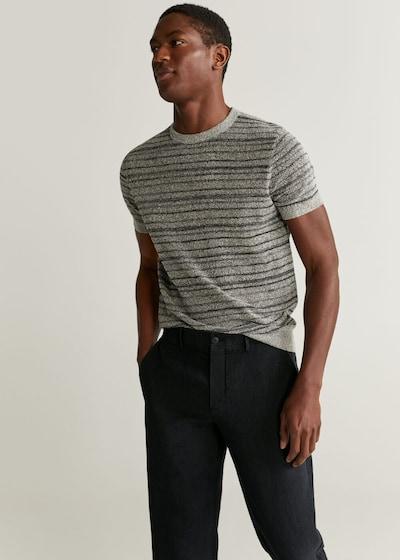 MANGO MAN Hose in schwarz, Modelansicht