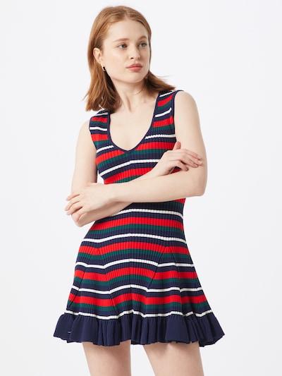 Parallel Lines Jumpsuit 'PL78810' in de kleur Donkerblauw / Donkergroen / Rood: Vooraanzicht