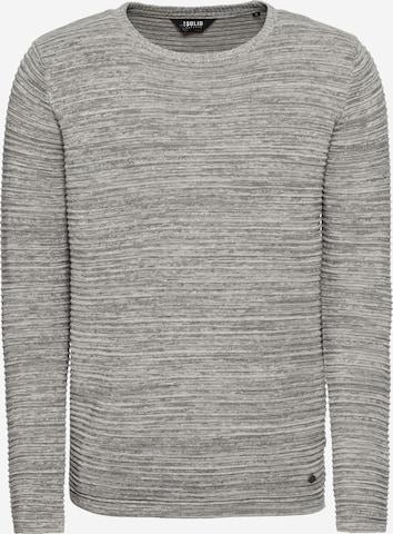 !Solid Pullover 'Struan' in Grau