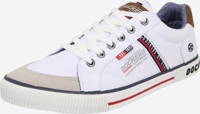 Dockers by Gerli Sneaker in beige / blau / rot / weiß, Produktansicht