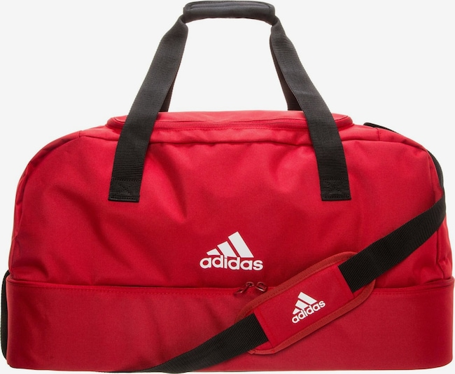 ADIDAS PERFORMANCE Tasche 'Tiro Bottom Compartment Small' in rot / schwarz / weiß, Produktansicht