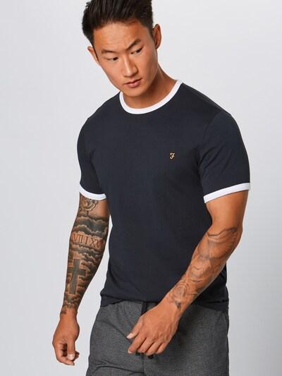 FARAH Shirt 'GROVES RINGER SS TEE' in de kleur Navy: Vooraanzicht
