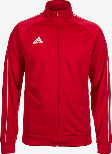 ADIDAS PERFORMANCE Trainingsjacke 'Core' in hellrot / weiß, Produktansicht
