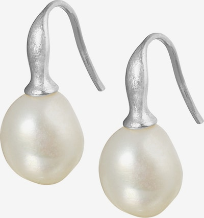 Sence Copenhagen Ohrhänger in silber / perlweiß, Produktansicht