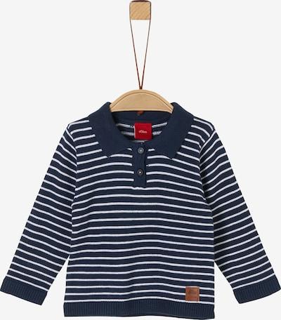 s.Oliver Feinstrick-Pullover in blau, Produktansicht