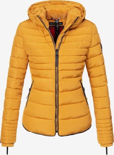 MARIKOO Winterjas 'Amber' in de kleur Goudgeel, Productweergave